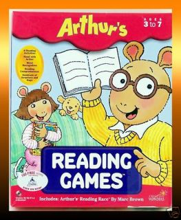 READING GAMES Preschool   1st Grade PC/MAC CD Educational Software NEW