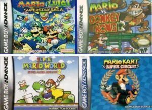Mario Gameboy Advance SP DS GBA Game Boy Games 7