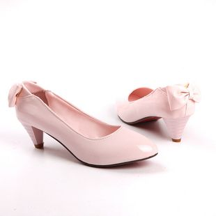 New Stunning Ladies Bow Patent Heels Shoes Sz 3 11