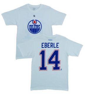 Edmonton Oilers Jordan Eberle White Name and Number Jersey T Shirt