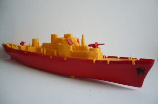 Mexican Boat Ship Plastic toy Copy Ideal Toys Truck Made In Mexico