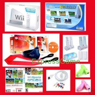 Nintendo Wii 1 Console HD ea Sports Active Games Bundle