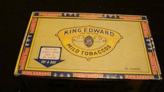 King Edward the Seventh Vintage Empty Box Originally Held 6 cent
