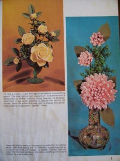 Vtg 70s Egg Carton Flowers Patterns Instruction Book