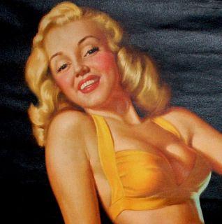 RARE Marilyn Monroe 1948 Earl Moran Pin Up Calendar Maid in Baltimore
