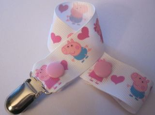 Baby Dummy Clip Peppa Pig George Pacifier Strap