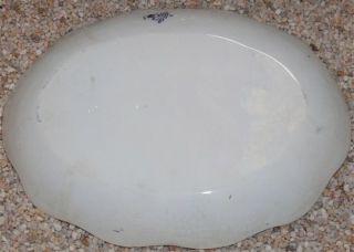 Antique Dunbarton New Wharf Pottery Flow Blue Platter