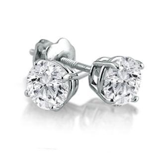 Carat TW Diamond Stud Earrings 14k White Gold