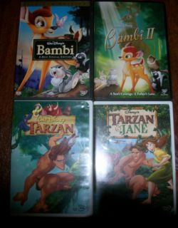 DISNEY DVD LOT BAMBI 1 2 TARZAN TARZAN JANE
