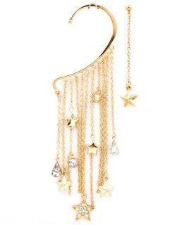 Over Ear Cuffs Earrings Cuff Hook 3 5 Crystal Stars Free Earring Gold