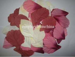 1000 Mixed Autumn Fall Silk Leaves Artifical Foliage Maple Wedding