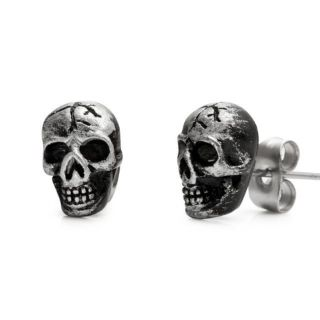 Style Skulls Stainless Steel Stud Earrings for Men Jewelry