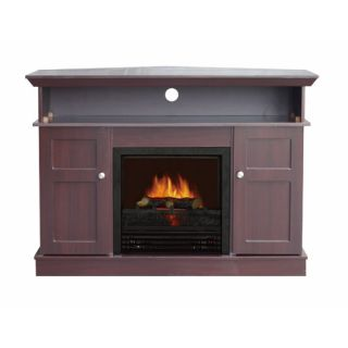 1250W Corner Electric Fireplace Heater Stove TV Stand