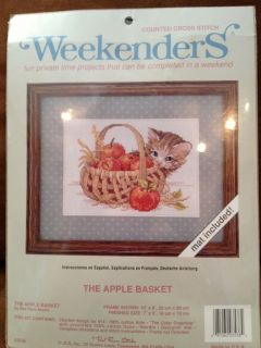 WEEKENDERS Counted Cross Stitch Kit The Apple Basket