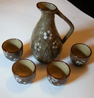 ORIENTAL Japanese ASIAN Contemporary Sake Set eclectic GIFT gifts NEW