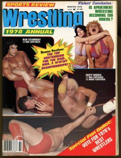 Review Wrestling Magazine Annual Rick Steamboat Dusty Rhodes