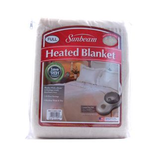 Sunbeam Full Seashell Electric Heated Warming Blanket
