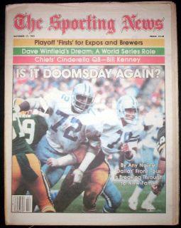 Dallas Cowboys 81 Ed Too Tall Jones Mint Sporting News