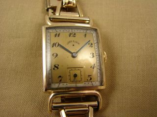 Vintage 1944 Art Deco 14k Gold FL Lord Elgin Mens Watch