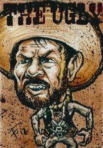 The Bad The Ugly ACEO Original Eli Wallach Sketch Card by Floyd