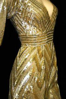 Elie Saab Royal Gold Sequined Dress and Cavalli Bag OFFER Layaway for