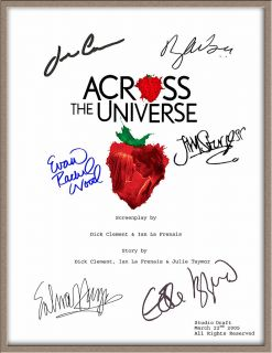 Eddie Izzard Bono Evan Rachel Wood Signed Across The Universe Movie