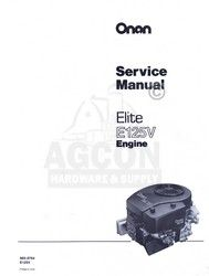 the onan elite e125v 965 0764 engine service shop manual