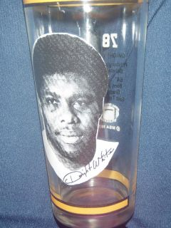 Pittsburgh Steelers DWIGHT WHITE vintage glass 1976 hvy wt