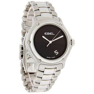 Ebel 1911 Series Mens Elegant Black Dial Swiss Quartz Watch 9187241