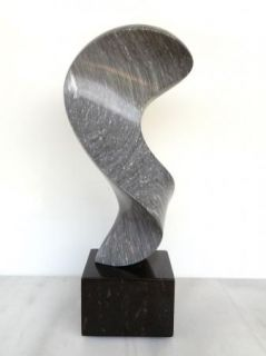 Allen Dwight Original Signed Abstract Modernist Solid Marble Sculpture