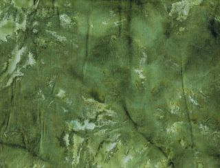 Quilt Quilting Fabric Batik Tie Dye Solid #40 Olive Green Cotton New