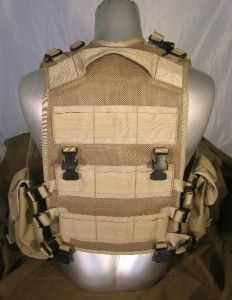 ISSUE BLACKHAWK DESERT TAN MAG POUCH TACTICAL VEST   GREAT PAINTBALL