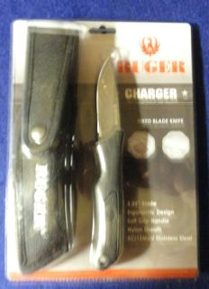 "Ruger Charger Fixed Blade Knife 3 25"" Blade"