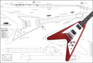 Gibson 67 Flying V® Full Scale Electric Guitar Plan
