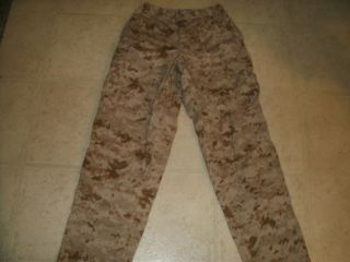 USMC Marine Corp MARPAT Desert Camo Pants Size Medium Regular