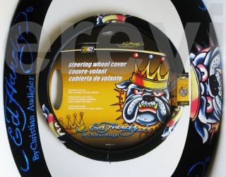 Ed Hardy King Bulldog Design Steering Wheel Cover Car Auto Truck Mean