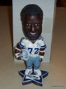 ed too tall jones bobblehead dallas cowboys nfl football collectible