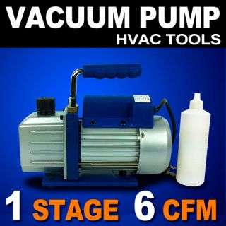 Vacuum Pump 6CFM Rotary Vane Deep HVAC Tool AC R410A R134 R22