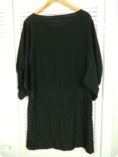 ELEY KISHIMOTO Designer womens black SILK dress sz 10 rrp$700+