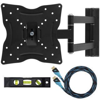 LCD LED Plasma Articulating Corner Swivel Tilt Arm TV Wall Mount 23 26