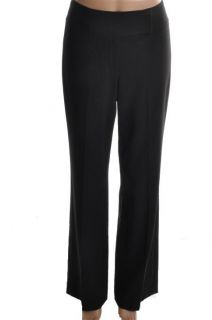 Elie Tahari New Black Flat Front Dress Pants 4 BHFO