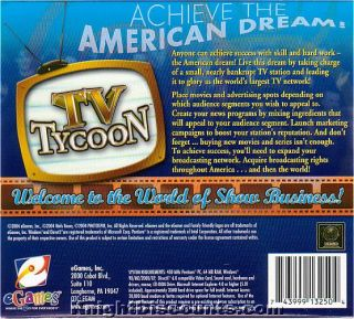 eGames TV Tycoon Television Media Sim PC Game New Box 743999132504
