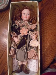 Emerald Collection Paloma Porcelain Doll Victorian Dress NIB MINT on a