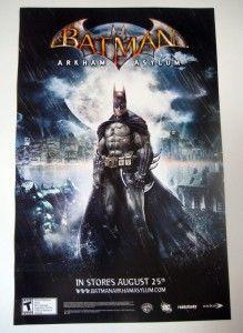 Batman Arkham Asylum Promo Poster Comic Con SDCC Eidos