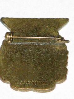Edmonton Curling Club Ladies Thistle Vintage Lapel Pin Pinback Brooch