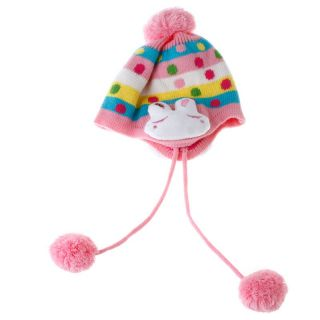 Cute Kid Boys Girls Babys Bunny Ear Knit Wool Winter Cap Hat Beanie