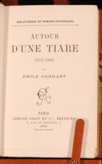 fascinating copy of Autour dune Tiare by Émile Gebhart (July 1839