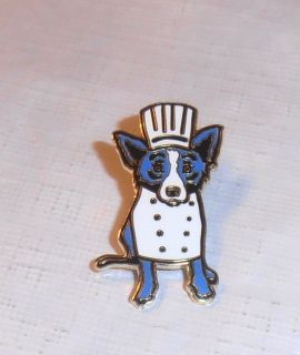 Emeril Lagasse George Rodrigue Blue Dog Pin New Orleans