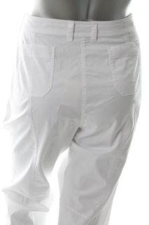 Eileen Fisher New White Cargo Cropped Pants Plus 20W BHFO