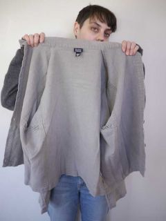 Eileen Fisher Italian Linen Shirt Blouse Jacket Top Womens USA Made